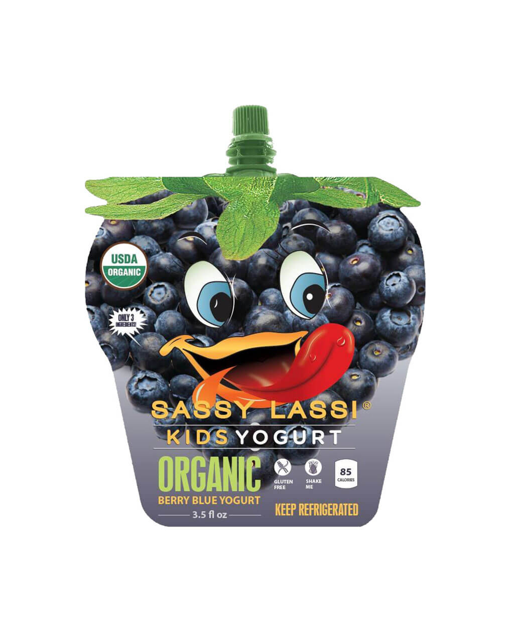 Organic real fruit yogurt